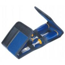 Комплект от удароустойчиви длета Irwin ProTouch MS750 в чанта за инструменти - 10, 15, 20 мм